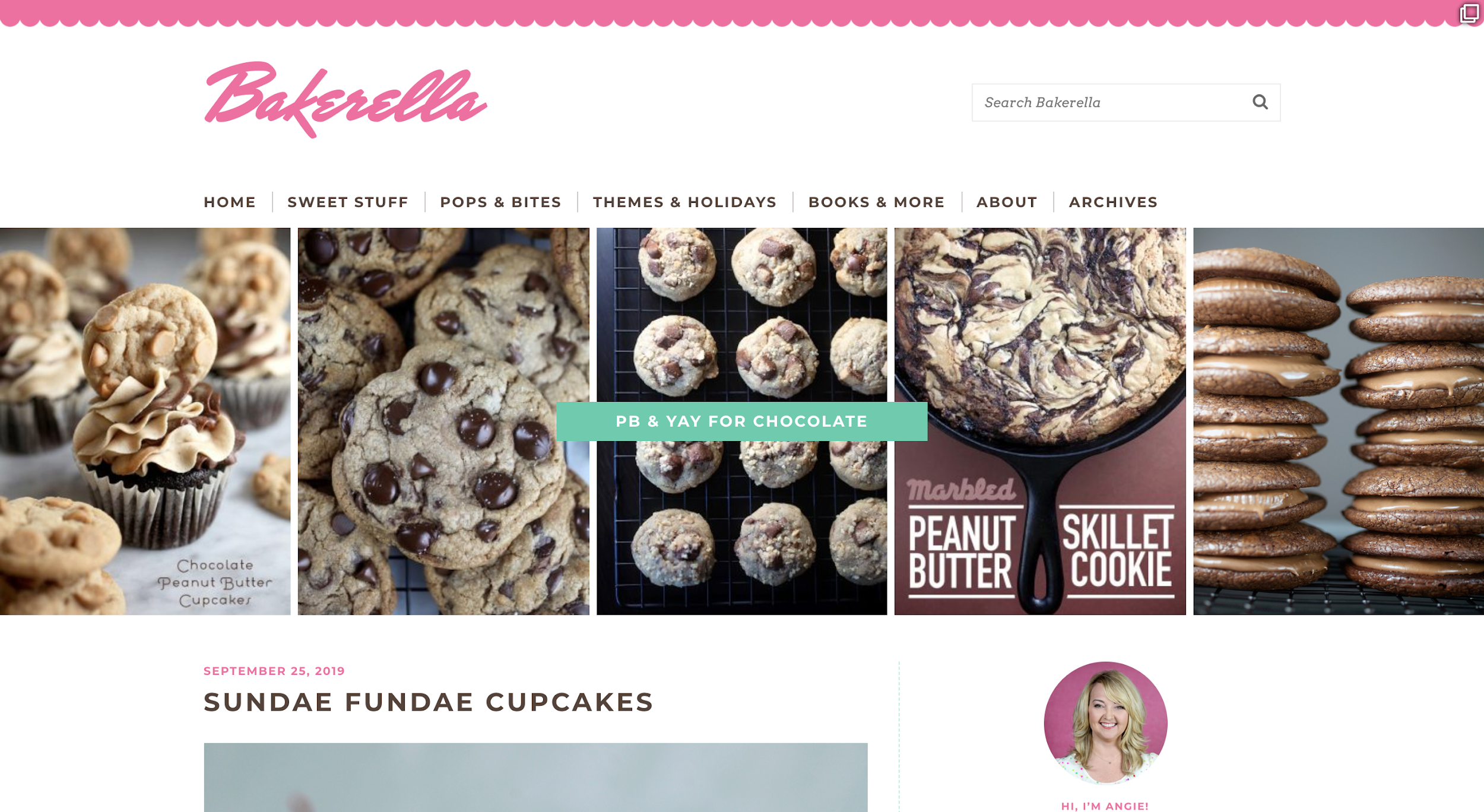bakerella food blog name example