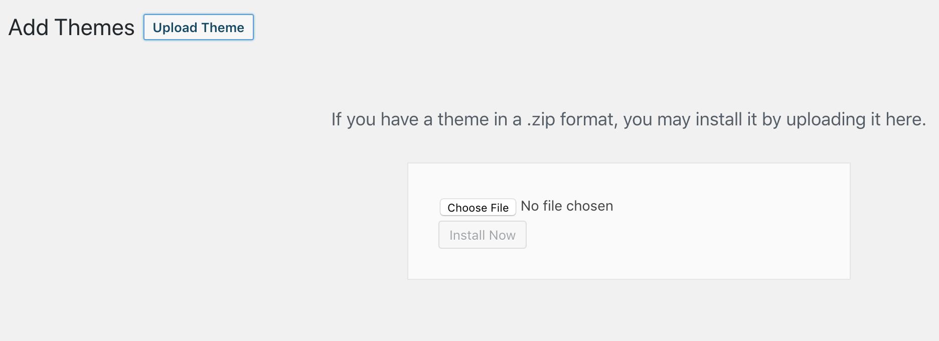 wordpress upload theme screenshot