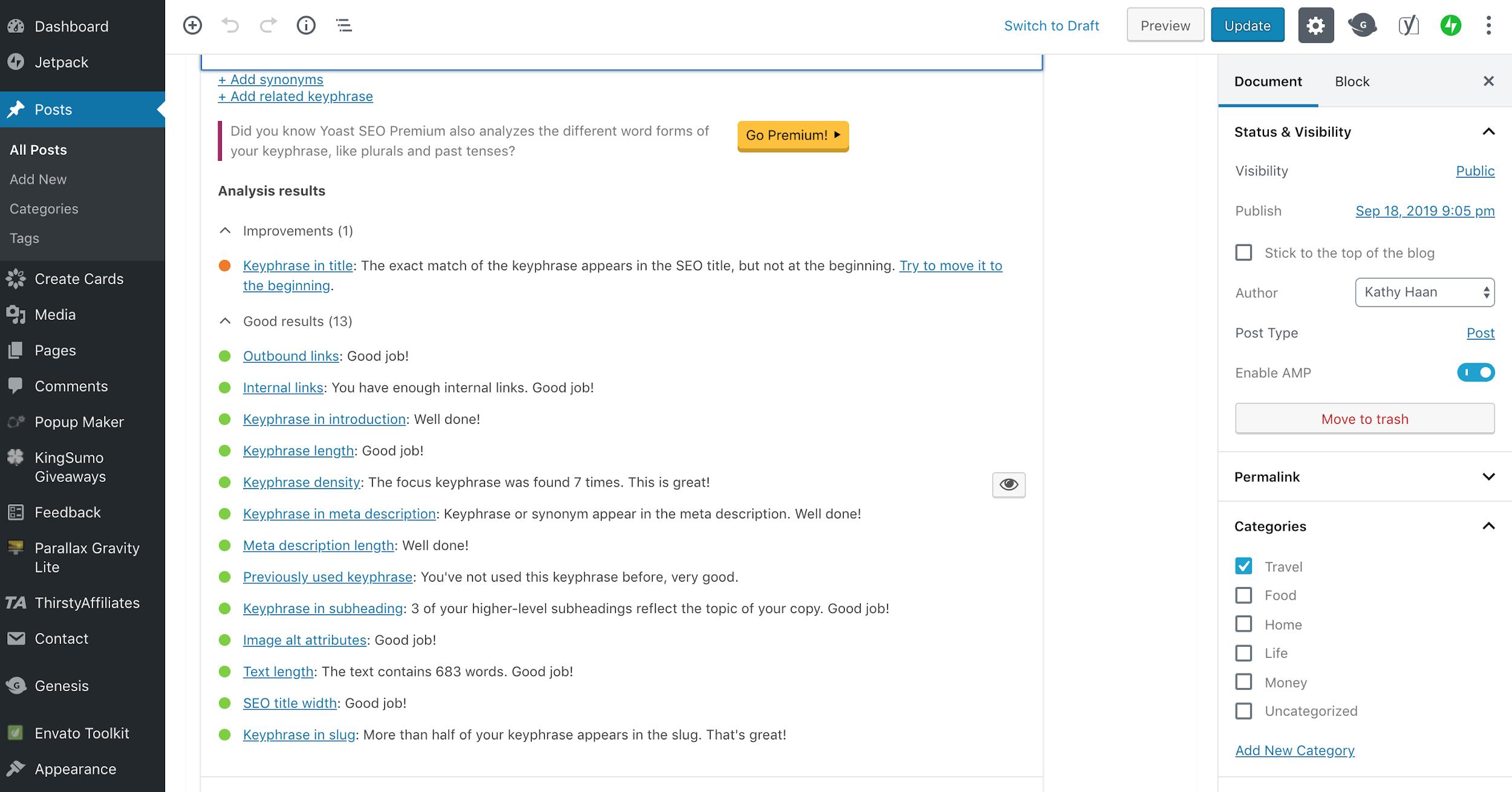 yoast plugin example screenshot