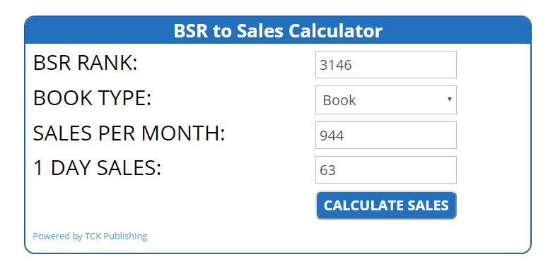 TCK Publishing's Amazon Book Sales Calculator image