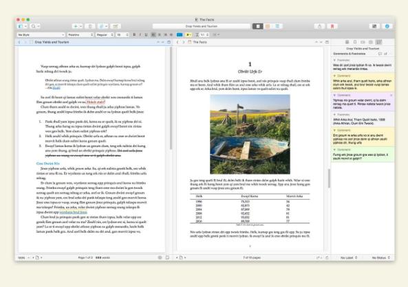 Scrivener's features info-graphics