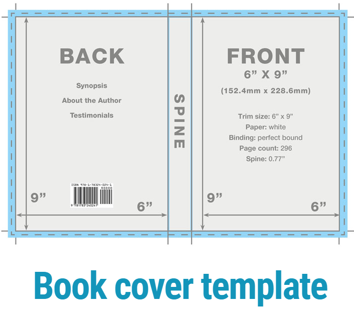 sample physical book cover layout from WordZWorth info-graphics