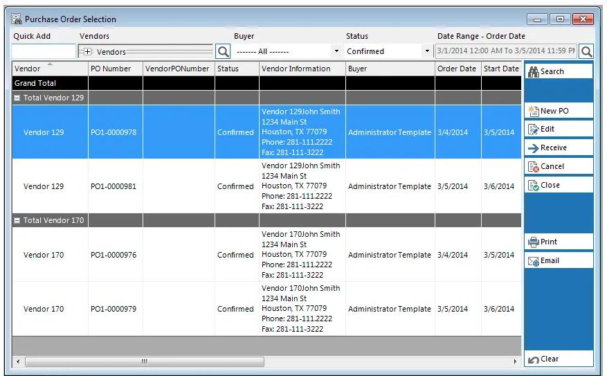 mPower POS vendor management