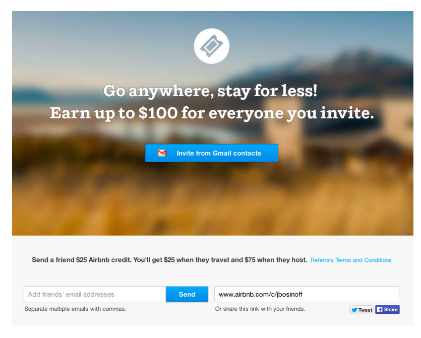Airbnb Referral Program Invitation info-graphic
