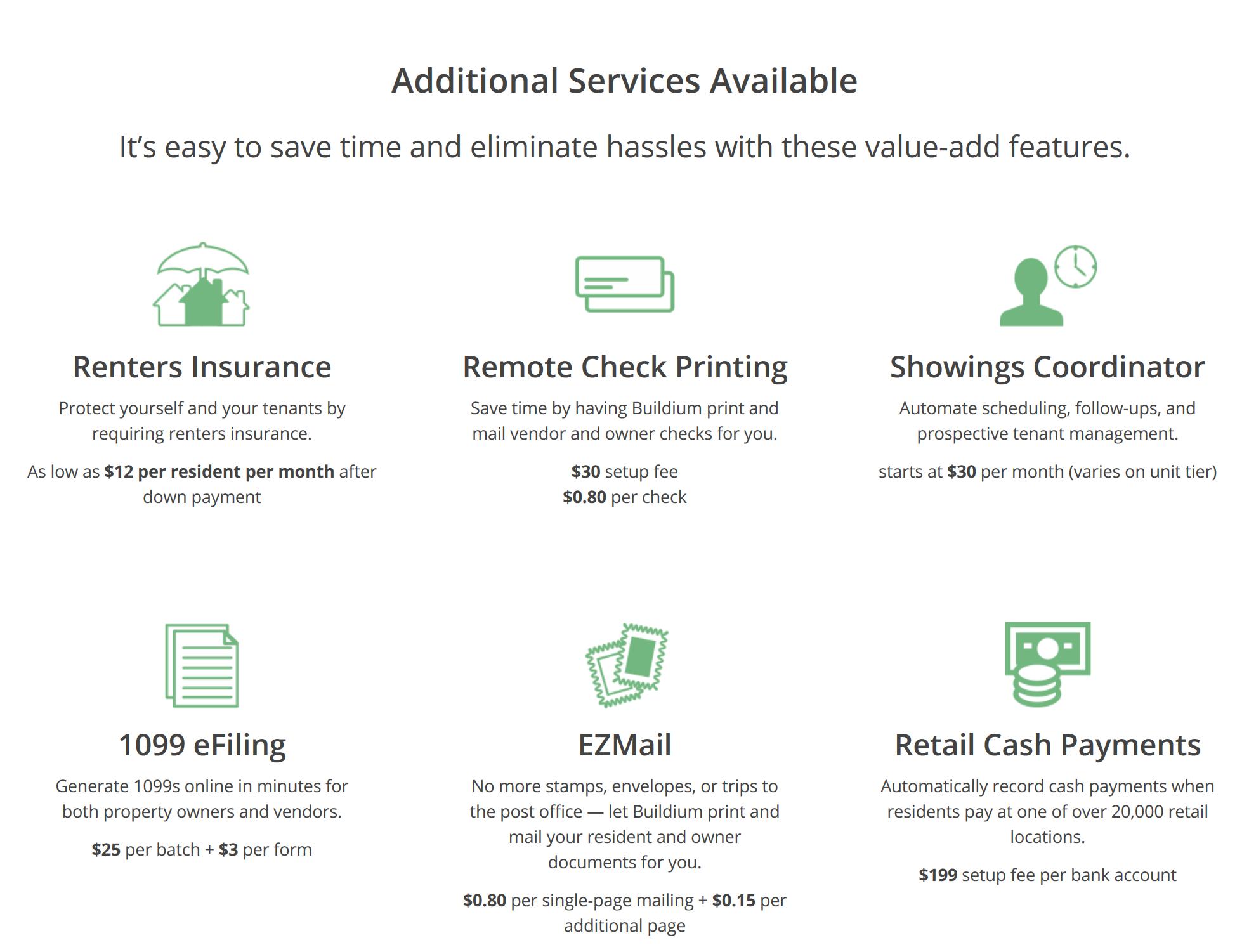 Additional Buildium Servises info-graphic