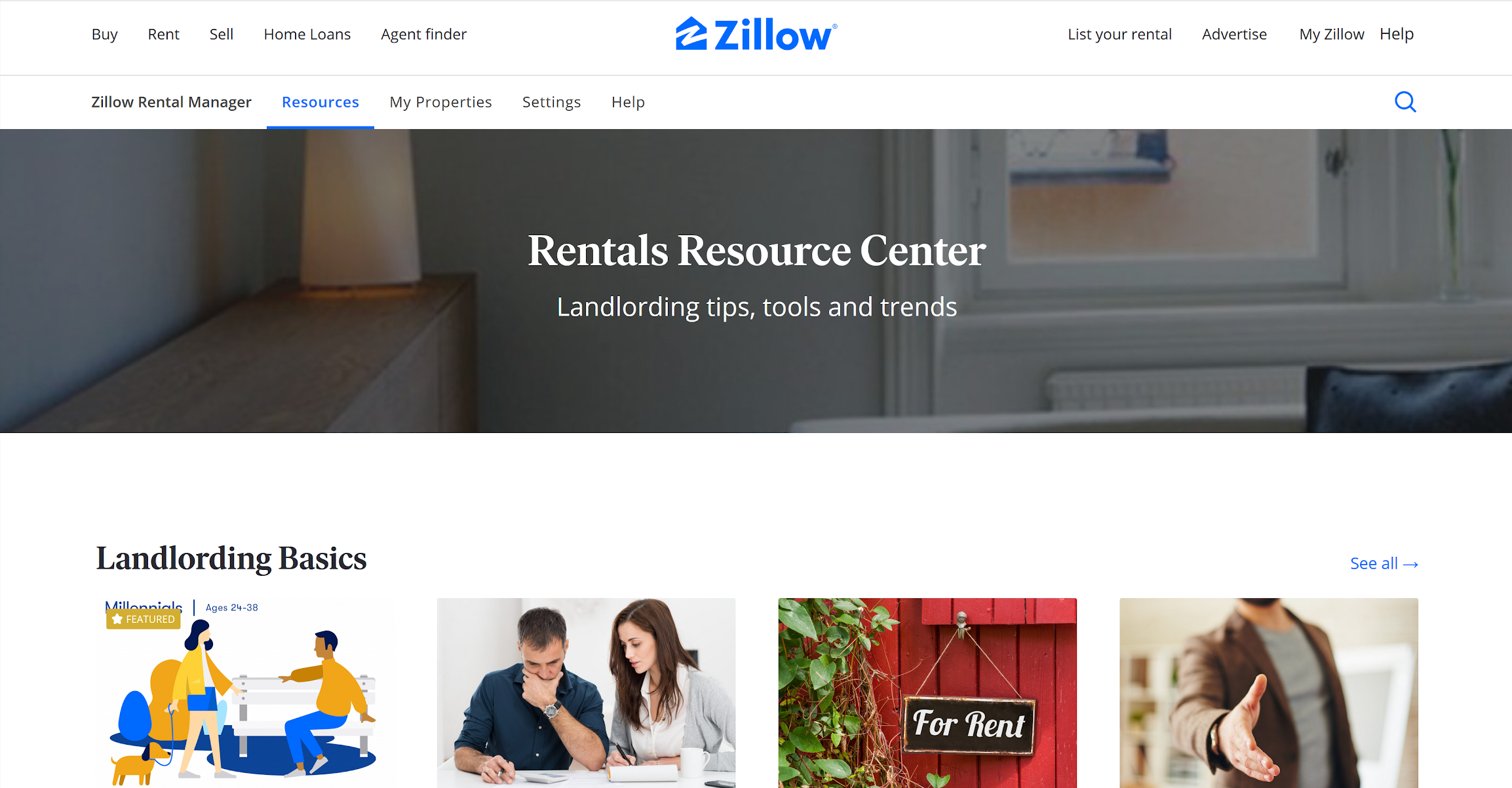 zillow rental manager info-graphic