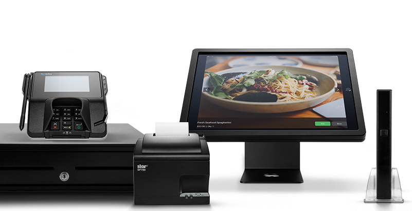 Lightspeed POS on touchscreens and desktop with receipt printer