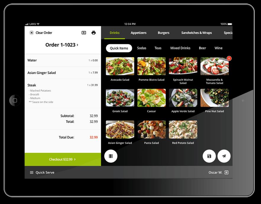 Lavu POS on an iPad