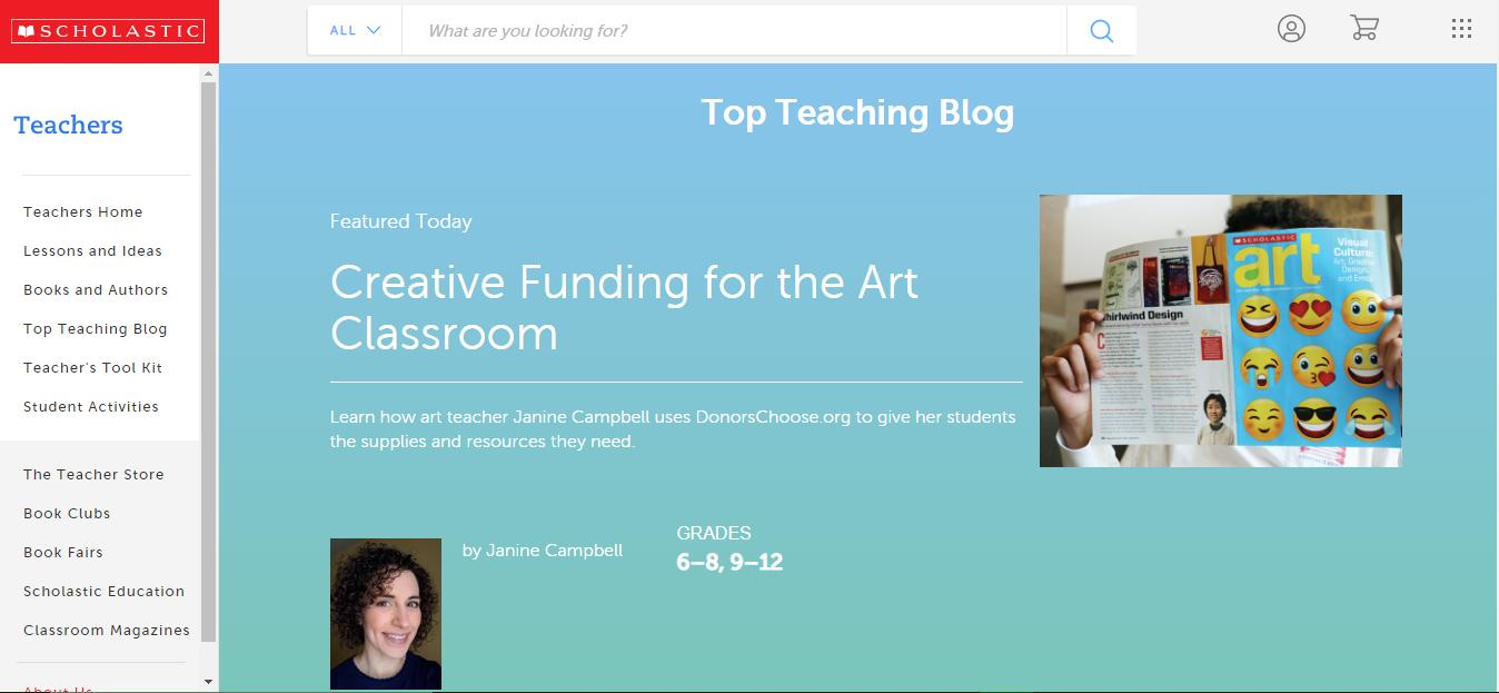 Scholastic Teacher blog info-graphic