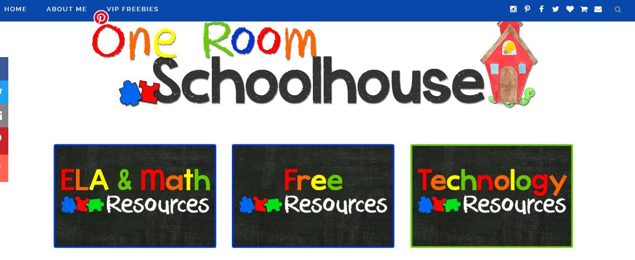 One Room Schoolhouse teacher blog info-graphic