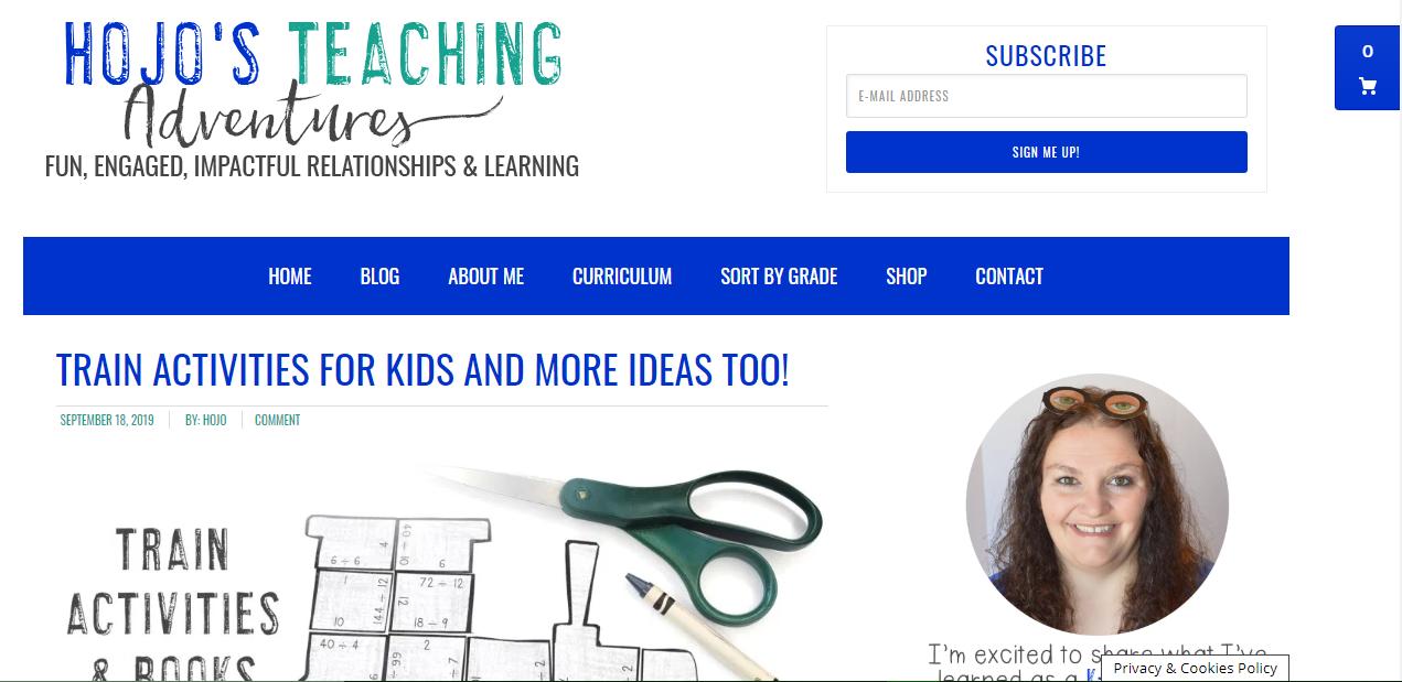 Hojo's Teaching Adventures - teacher blog infographic