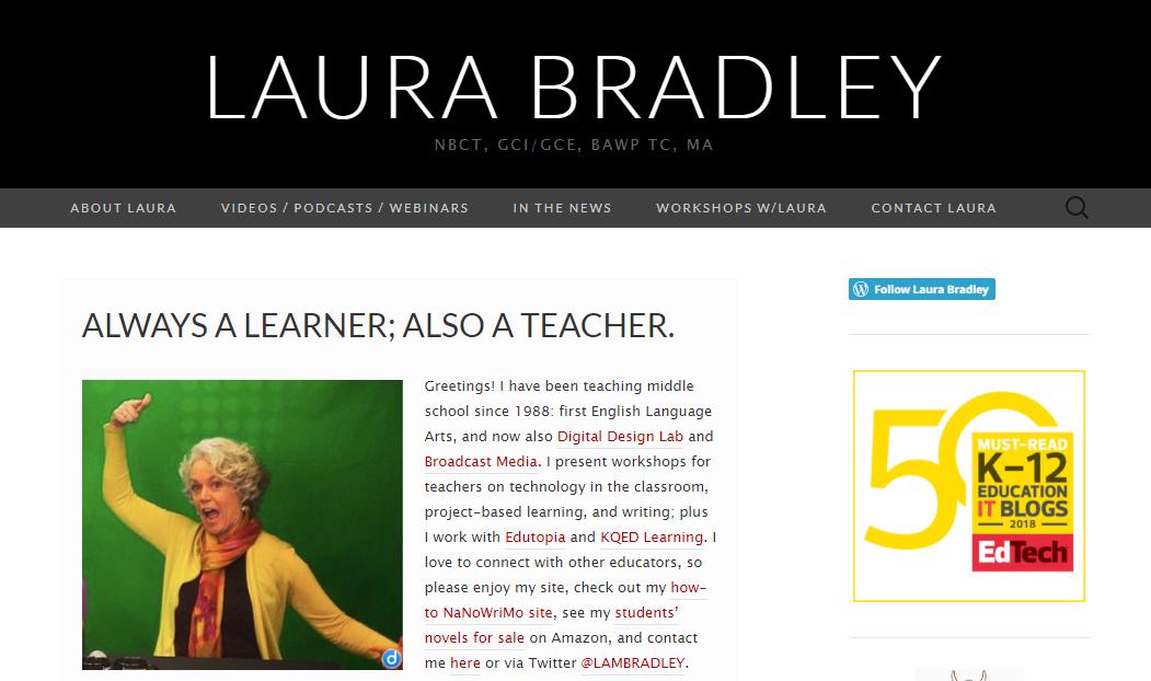 Laura Bradley's - teacher blog
