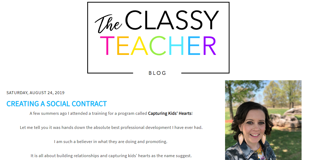 The Classy Teacher - teacher blog