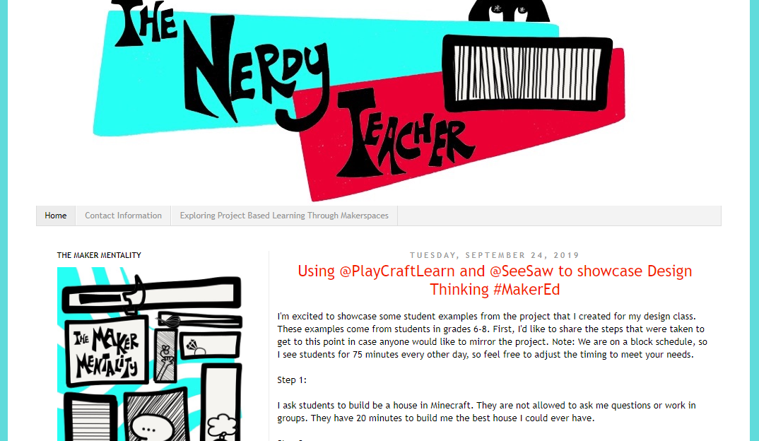 The Nerdy Teacher - teacher blog