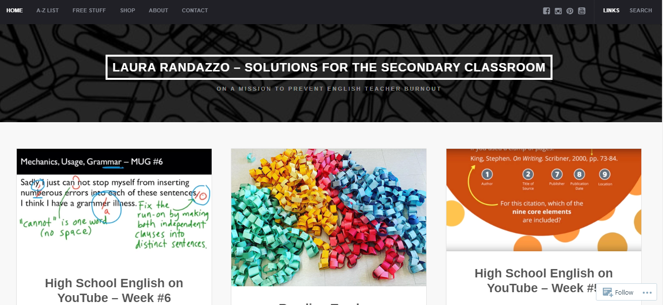 Solutions for the Secondary Classroom - teacher blog