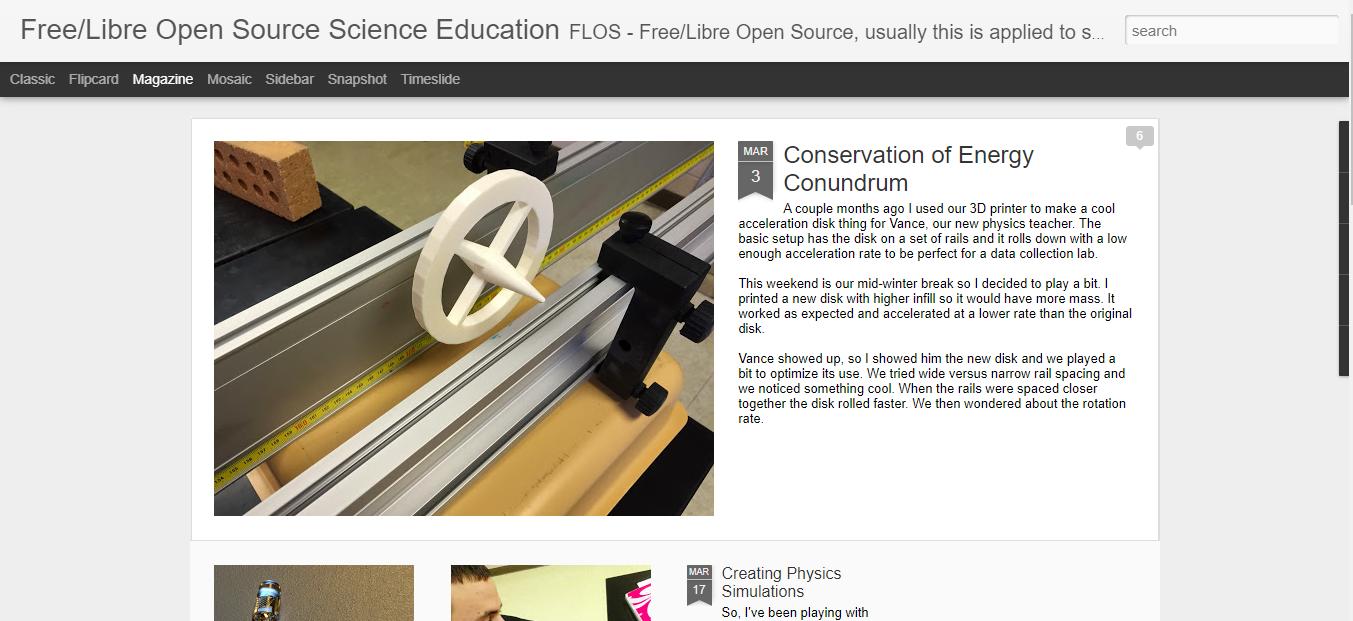 FLOS Science - teacher blogs