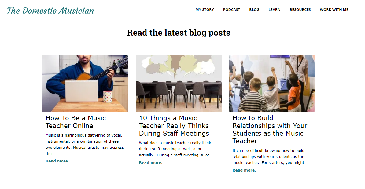 The Domestic Musician - teacher blog