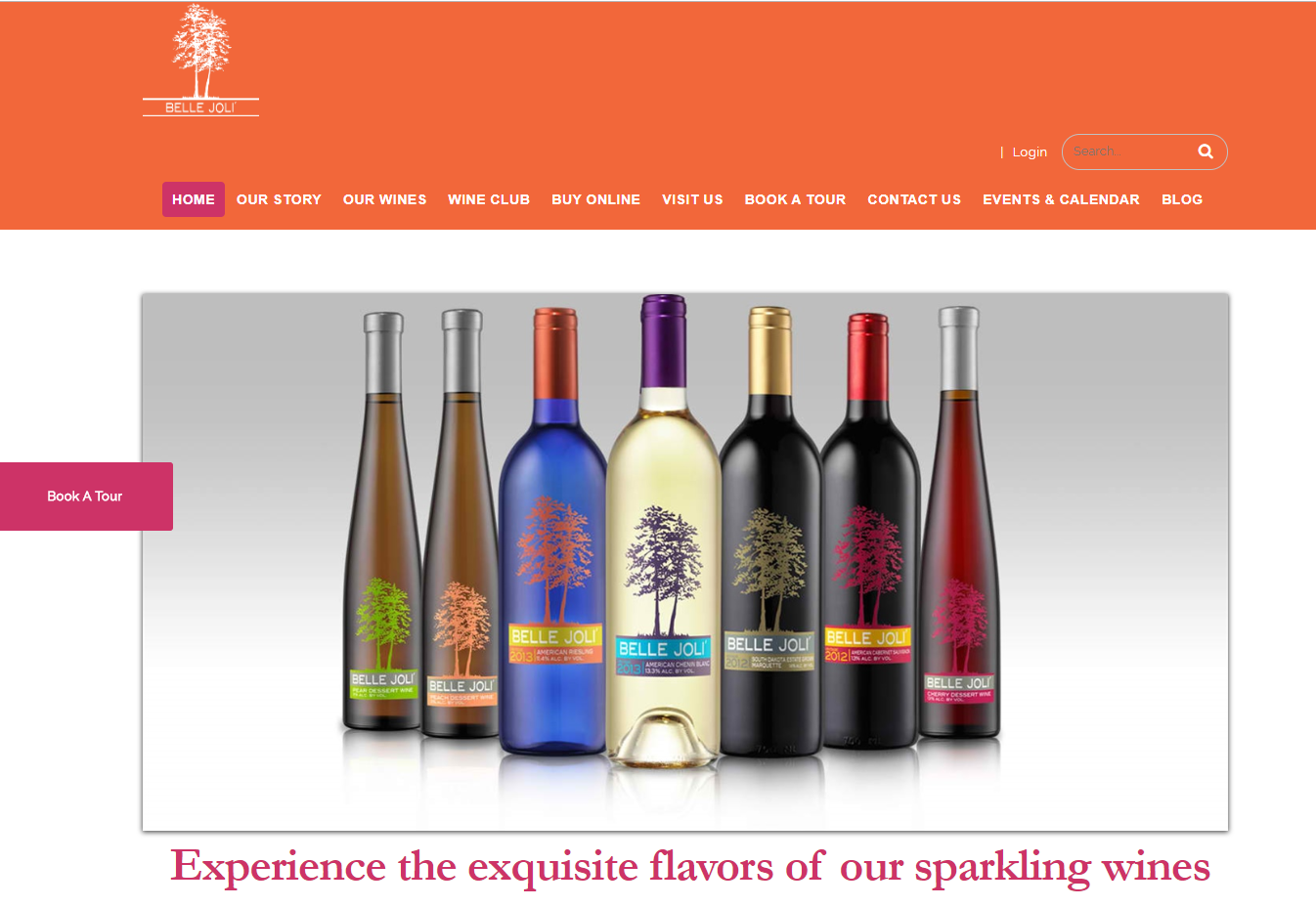Belle Joli wine website