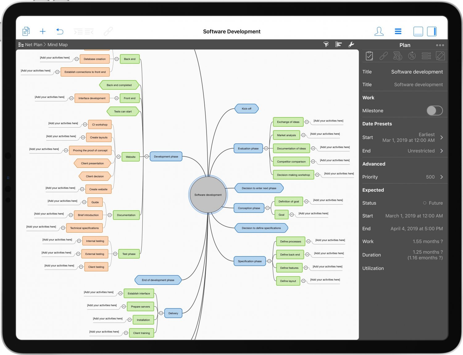 Merlin's mind map function infographics