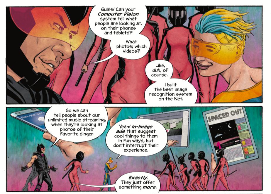 GumGum comic book pitch info-graphic