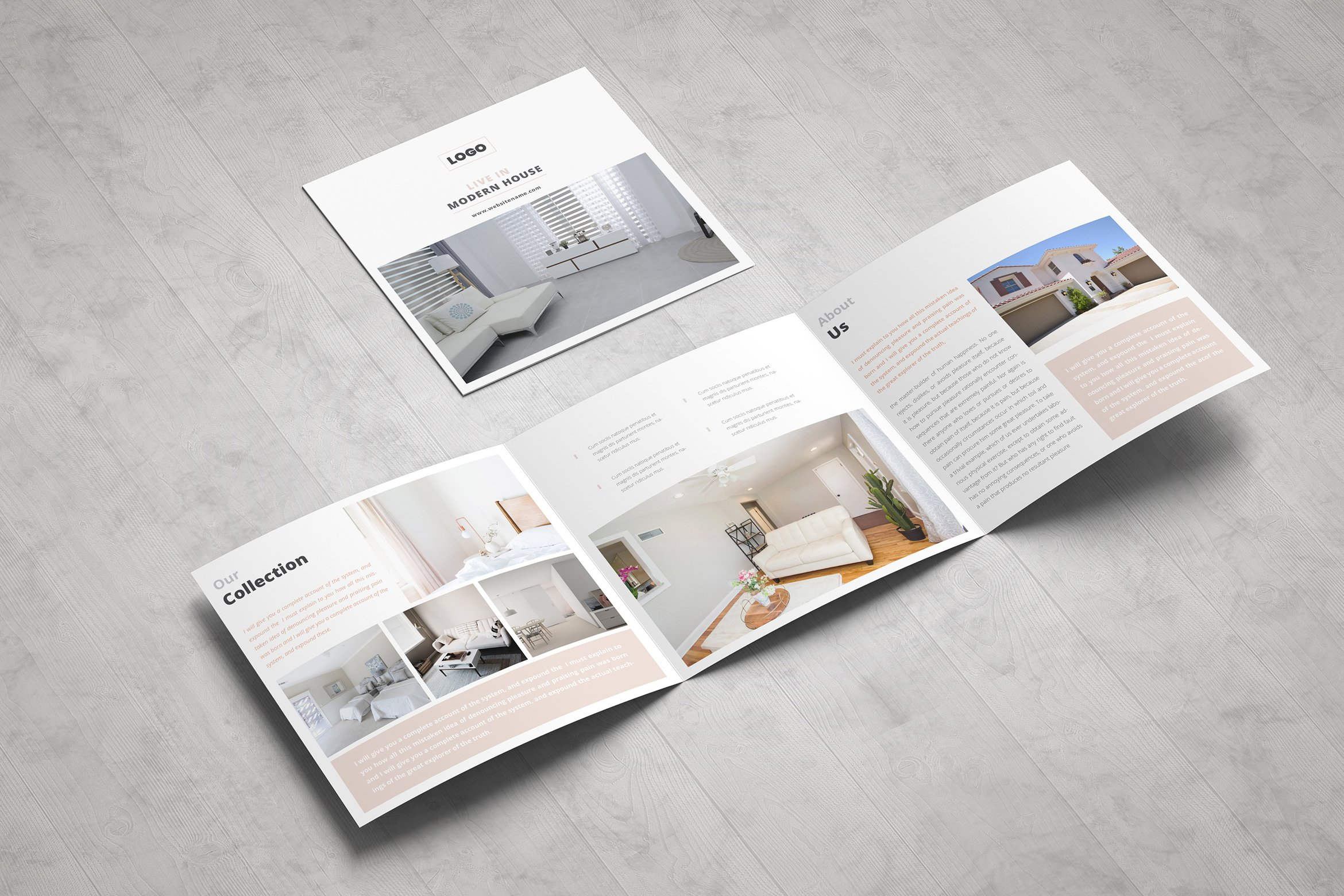 Real Estate Square Trifold Brochure by ZAAS