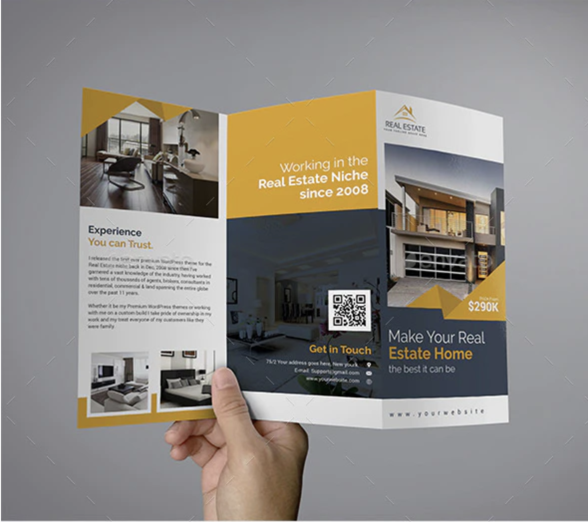 Trifold Real Estate Brochure by Themexone