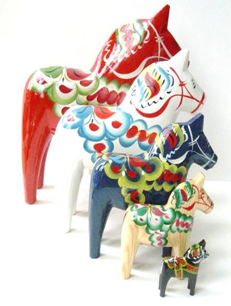 Swedish Dalecarlian horse or Dala horses
