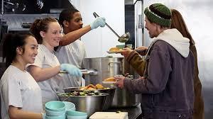 Team serving food at Loft Gay Center
