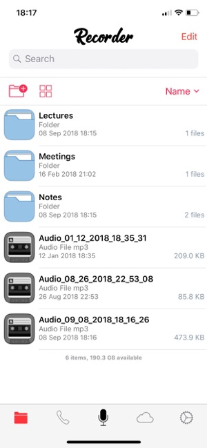 Voice Recorder and Audio Editor's mobile app
