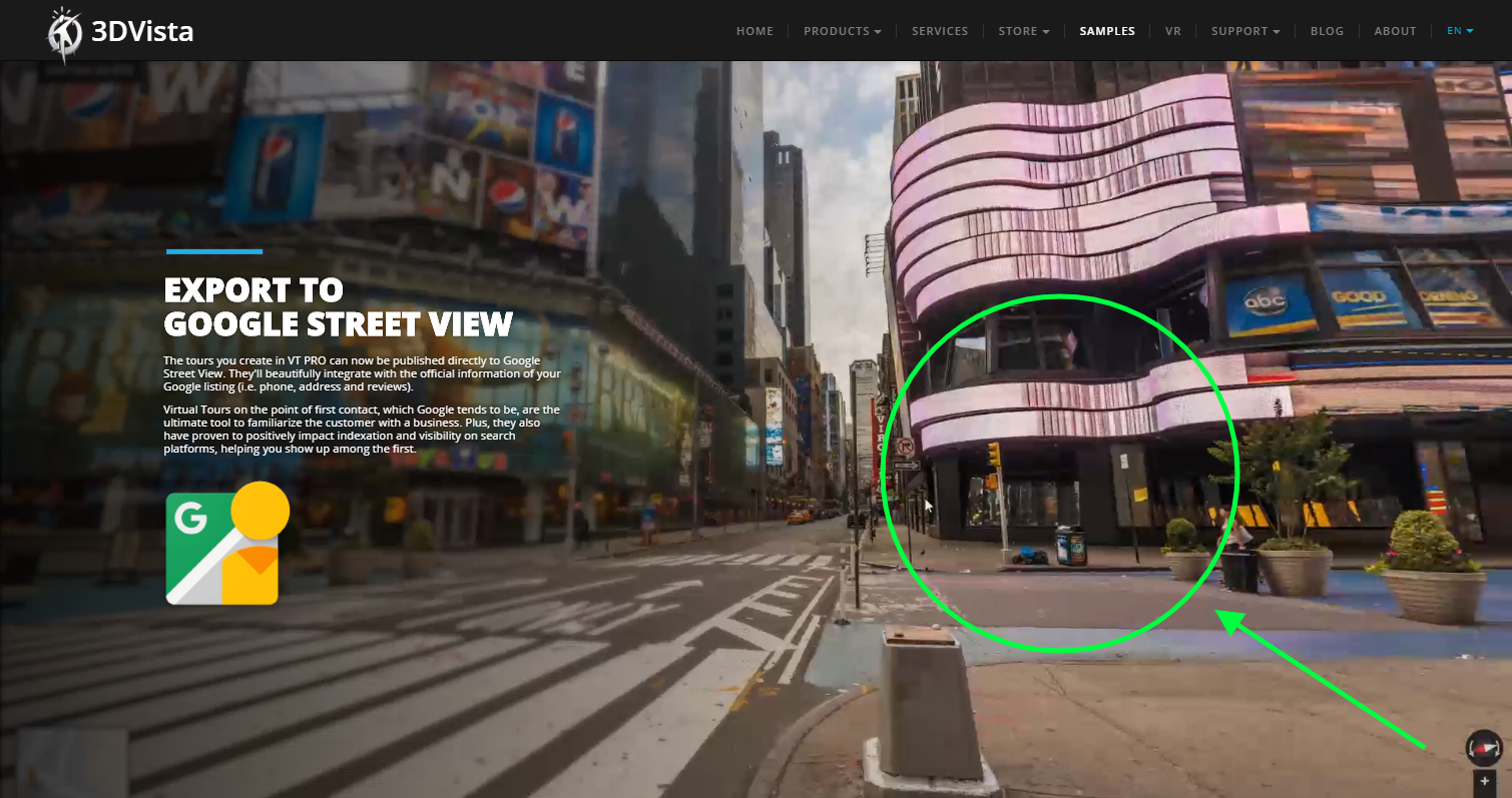 3DVista Google Maps integration