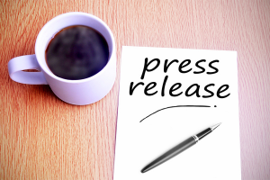 coffee and a press release note