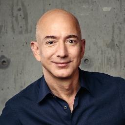 Headshot of Jeff Bezos, founder of Amazon