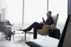 two businessman talking