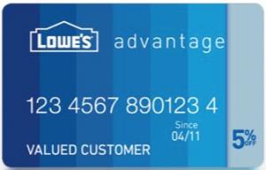 Lowe's Advantage Card