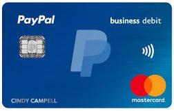 PayPal business debit card