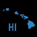 map of Hawaii sate