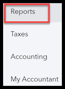 Navigate to Reports in QuickBooks Online