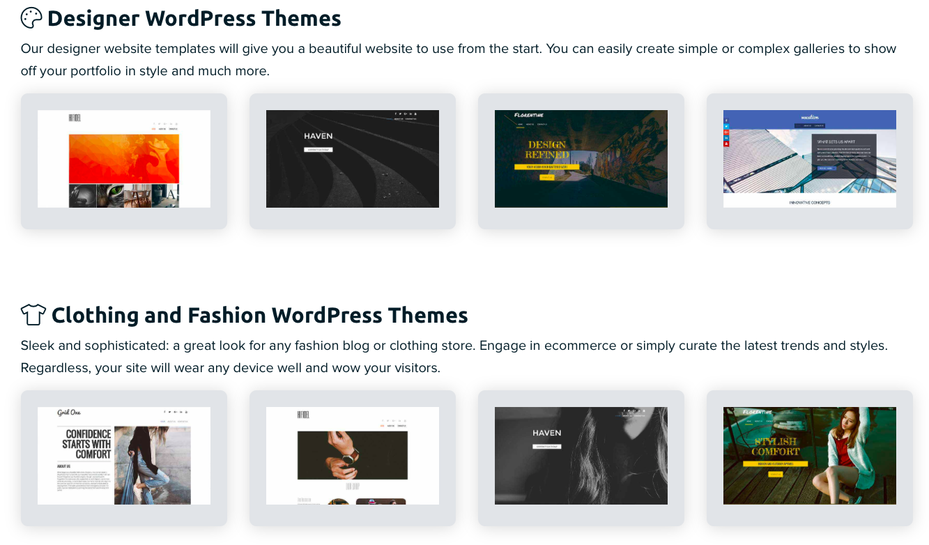 Categorized WordPress Themes