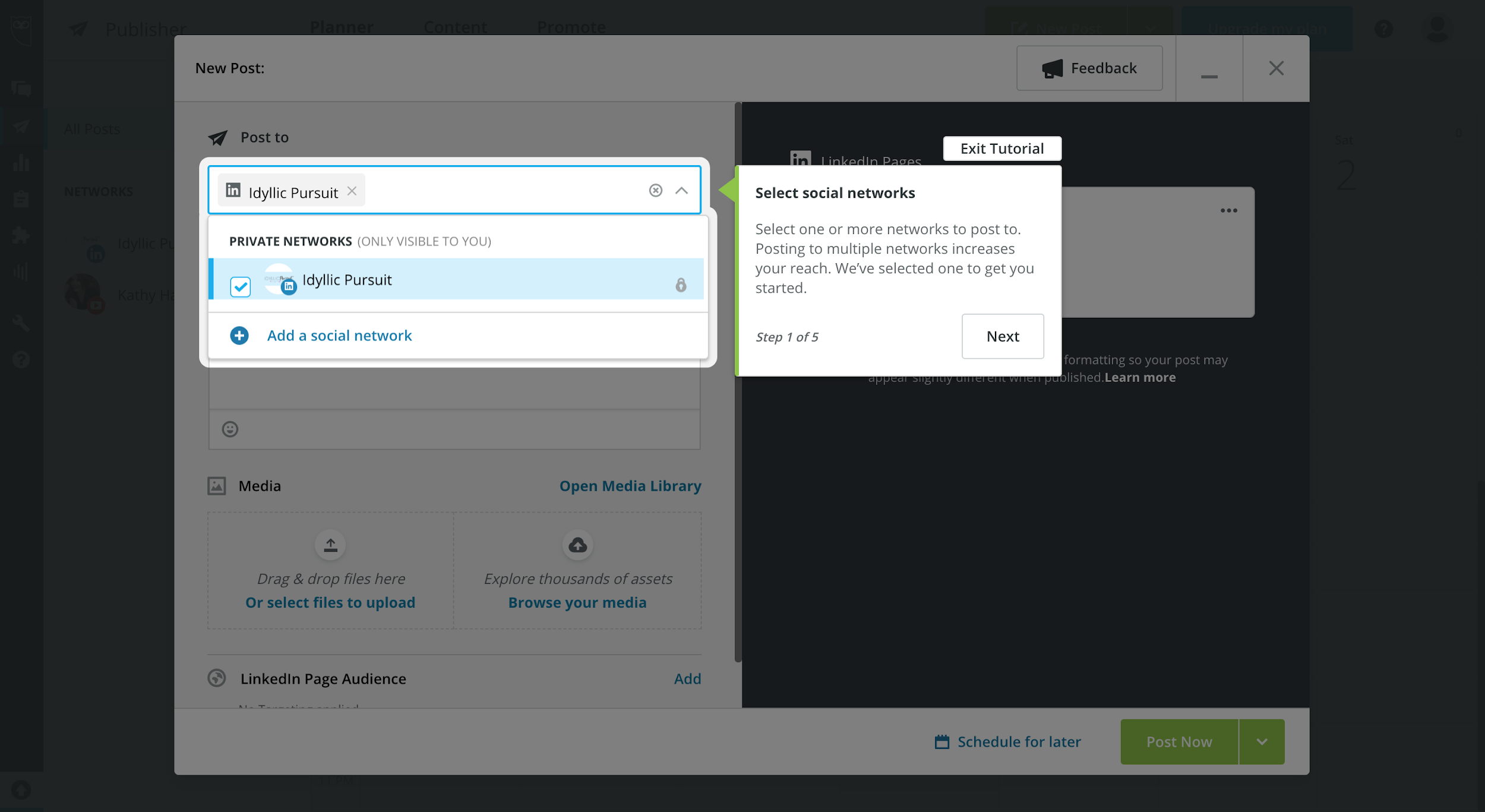 A look at Hootsuite's dashboard