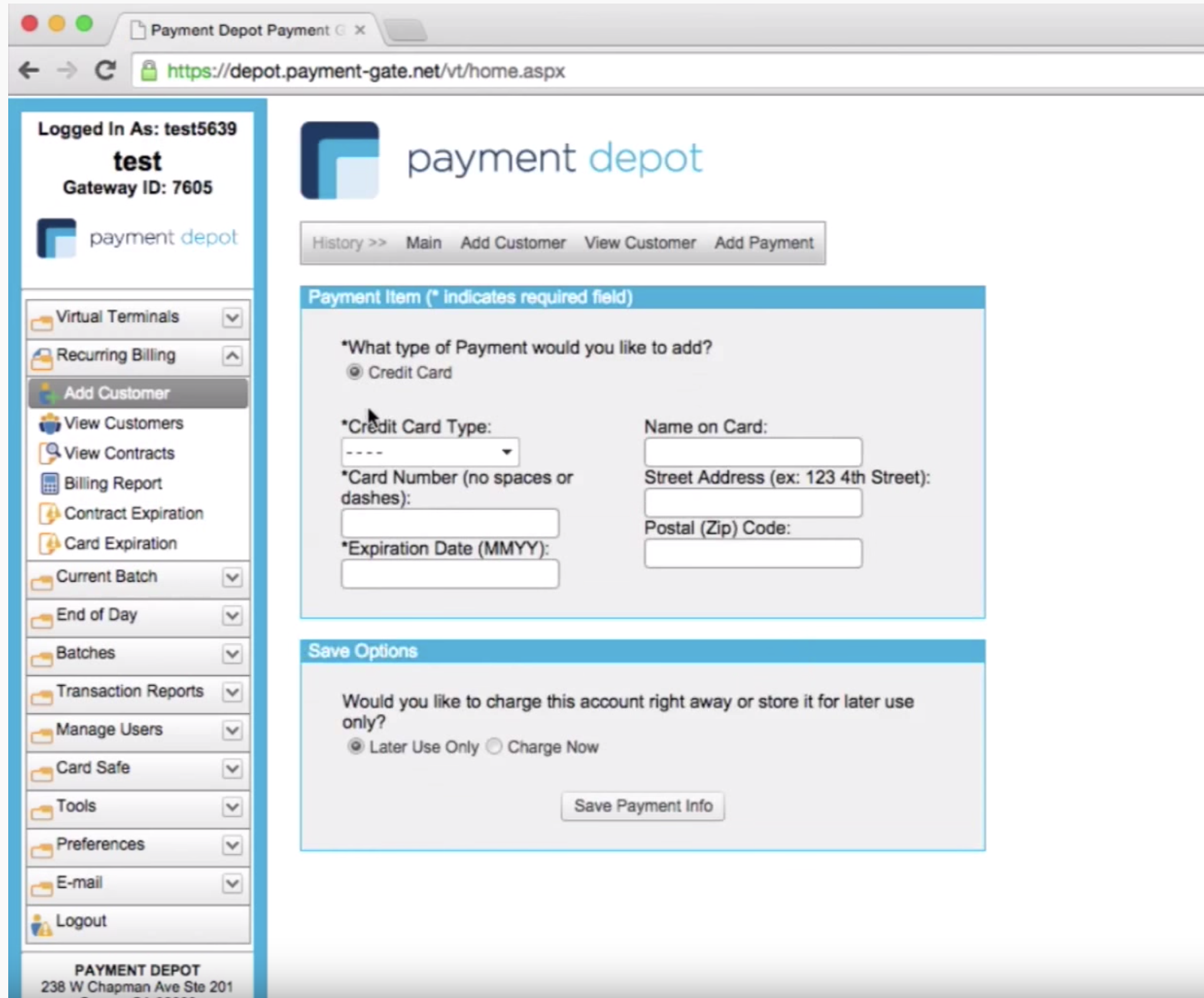 Payment Depot Features