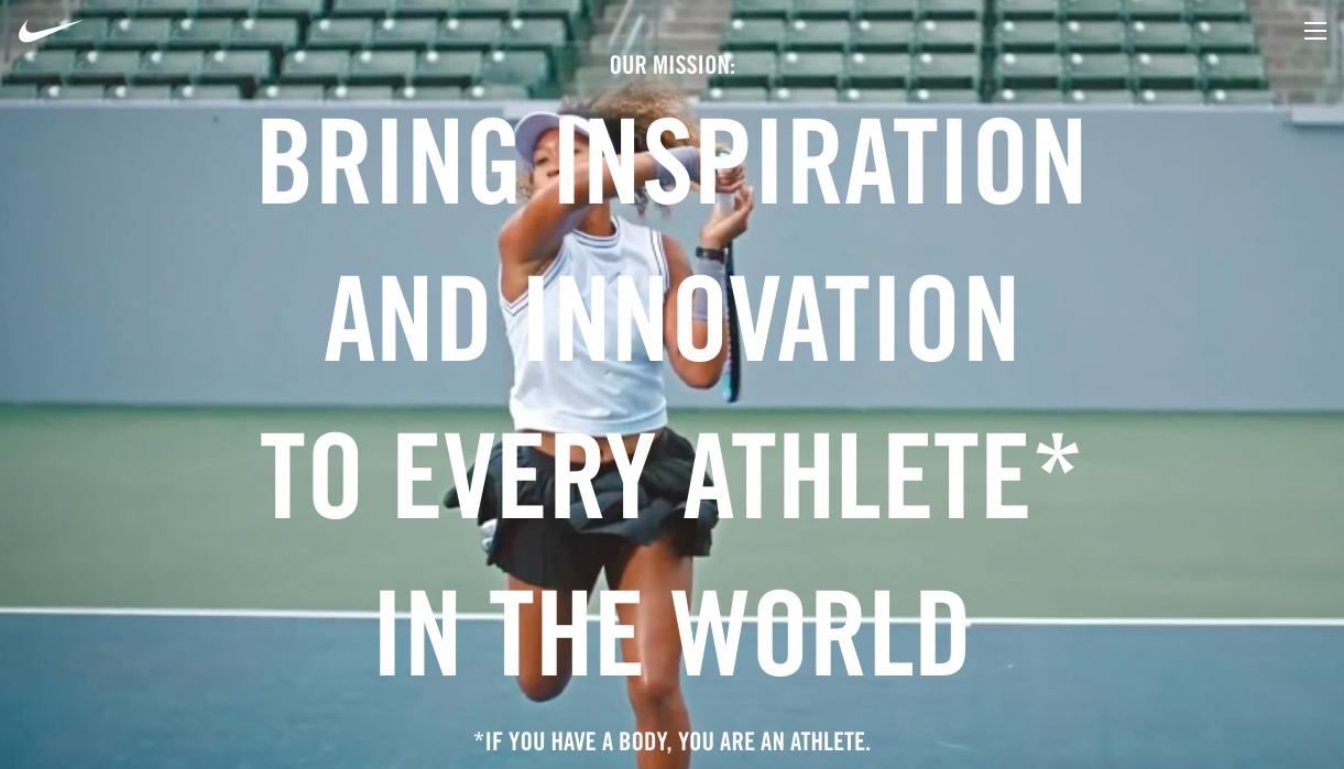 Nike mission statement