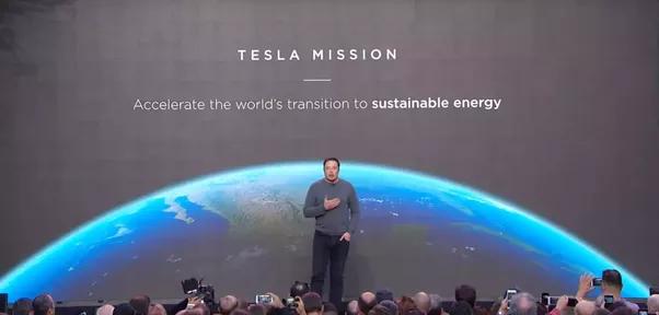 Tesla's mission statement