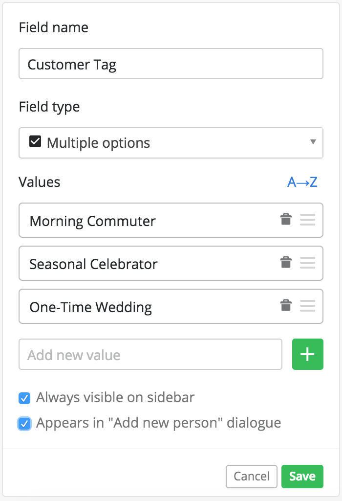 Create a Custom Field for Customers in Pipedrive