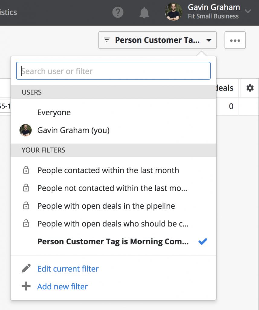 Create Customer Filters for Segmentation in Pipedrive