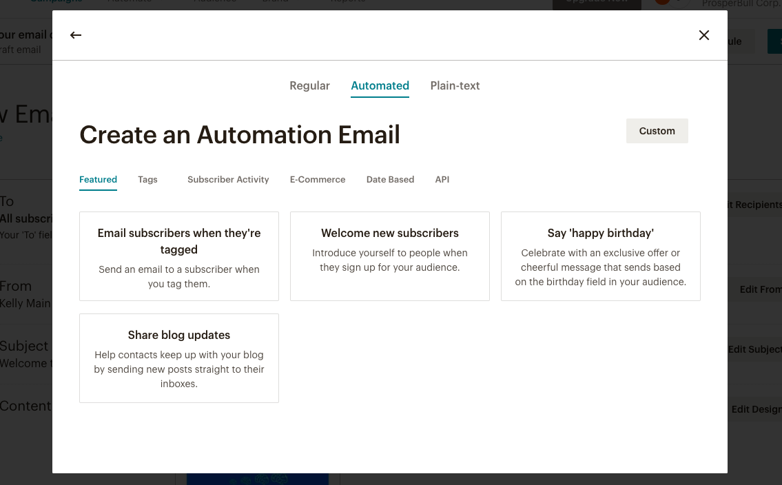 Create an Email Automation in Mailchimp