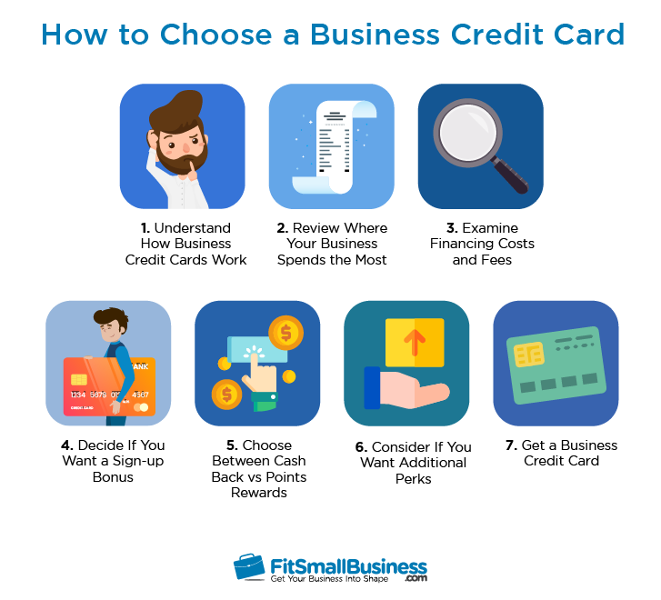7 Steps on How to choose a business credit card