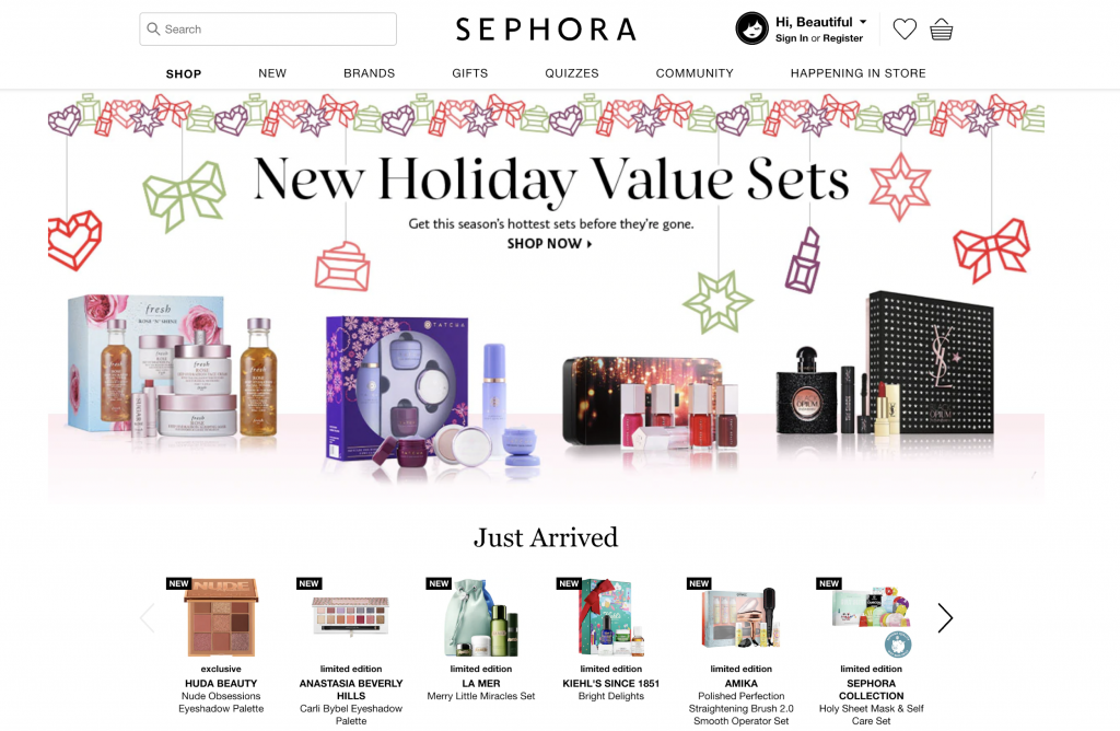 Sephora does an excellent job of enticing customers with limited-quantity and limited-edition holiday product bundles