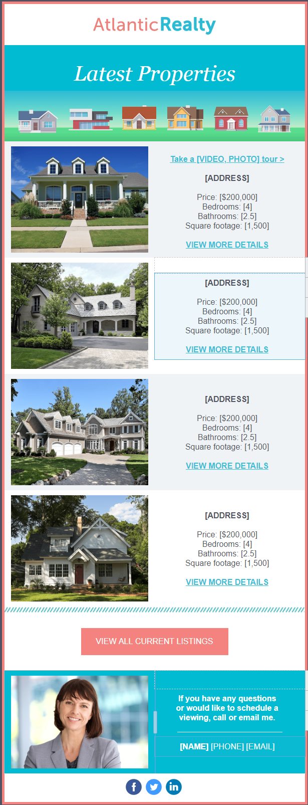 Multiple listings template