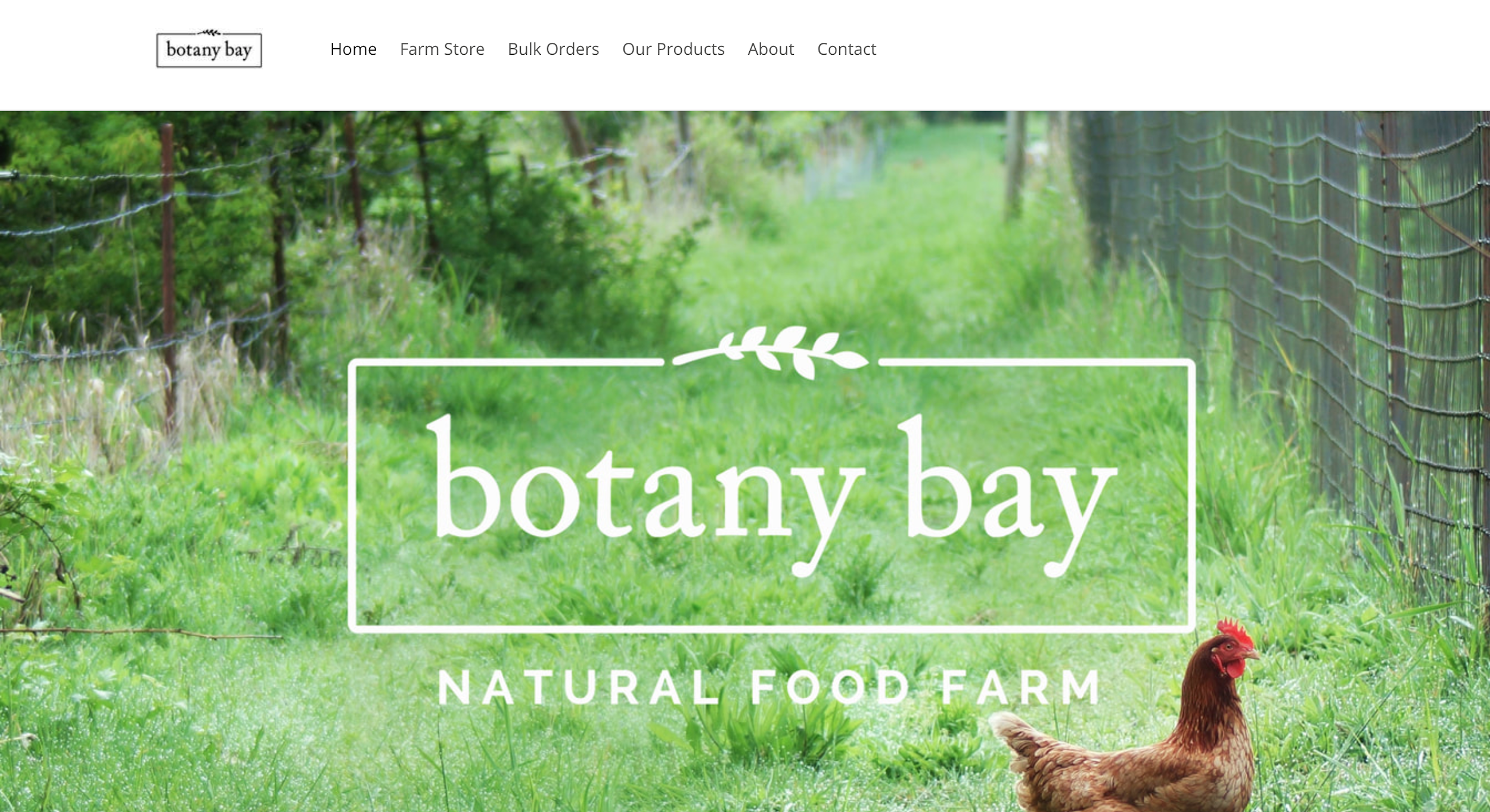 Botany Bay Farm website design