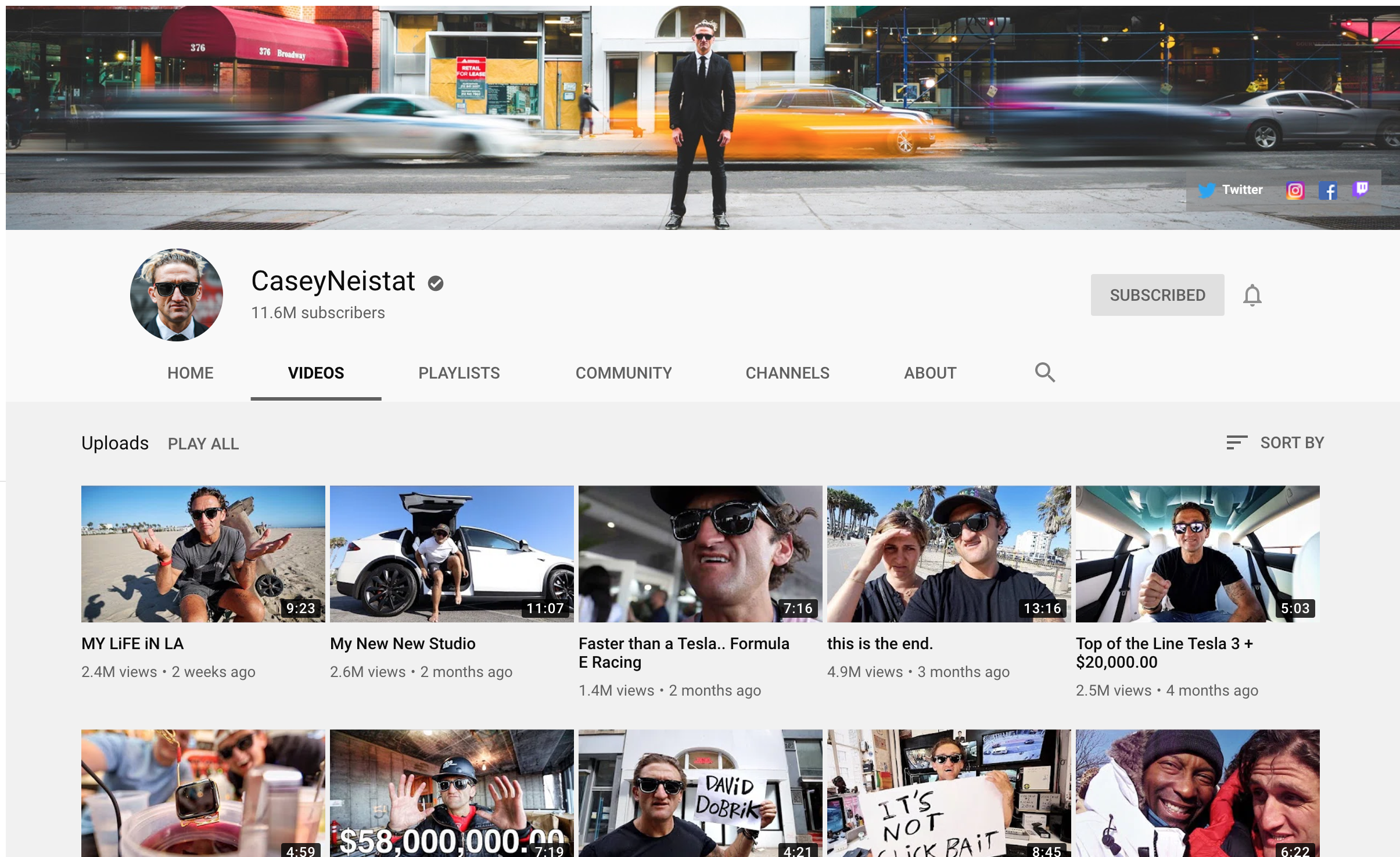 example of Casey Neistat's vlog